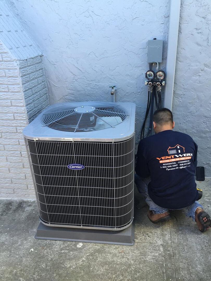 HVAC technician at a San Jose property