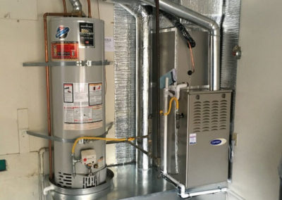 Gas heater installation by Ventwerx HVAC in San Jose California