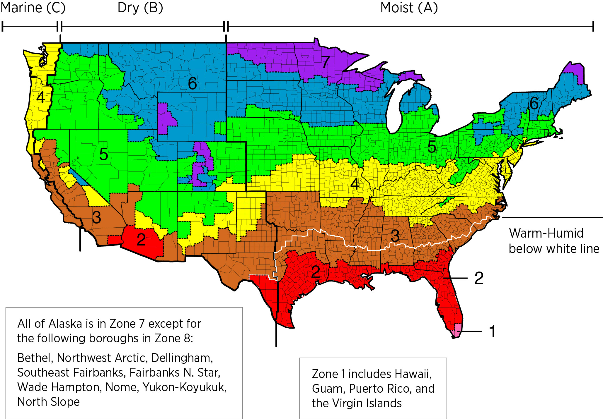 Climate Zones Map